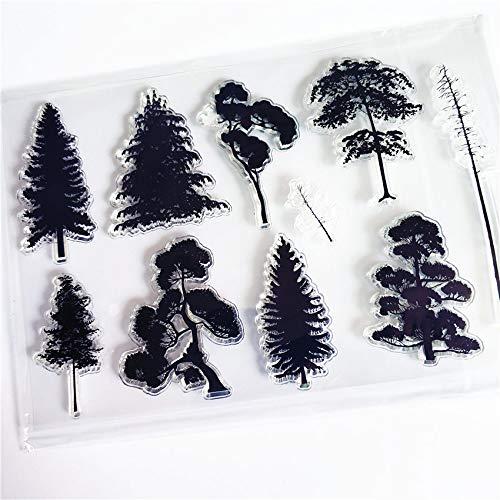 Heißer Verkauf Baumsetzlinge Transparente klare Stempel/Silikondichtungen Rollstempel für DIY Scrapbooking Fotoalbum/Kartenherstellung