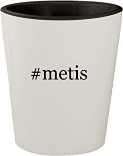 #metis - White Outer & Black Inner Hashtag Ceramic 1.5oz Shot Glass