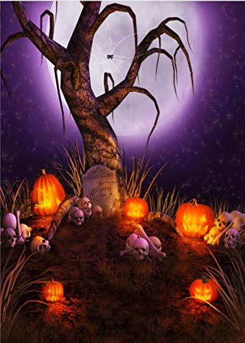 Fondo Fotografia Linterna de Calabaza de Halloween 5x7FT(1.5mx2.1m)para Portrait Fotógrafos Estudio Foto Fondo Prop Video Televisión Photocall