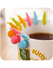 Soporte de bolsa de té en forma de caracol pequeño, hecho de silicona, accesorio para tu cocina