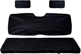 UTV Bench Seat Cover Set with Back Seat Cover for Polaris Ranger 500 700 800