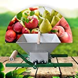 Ujialax Fruit crusher, 7L/2Gal Large Handmade Wine Juicer Apple Cider Presser, Stainless Steel Grinder Portable Manual for Grape and Berry, Nylon Roller