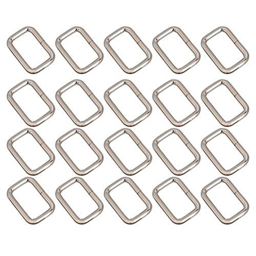 LEORX Dee Metallring D Webbing Belt Ribbon Schnalle 25mm Gurt Adjuster VPE 20