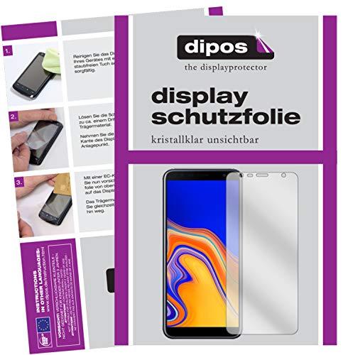 dipos I 2X Schutzfolie klar kompatibel mit Samsung Galaxy J4 Plus (2018) Folie Bildschirmschutzfolie