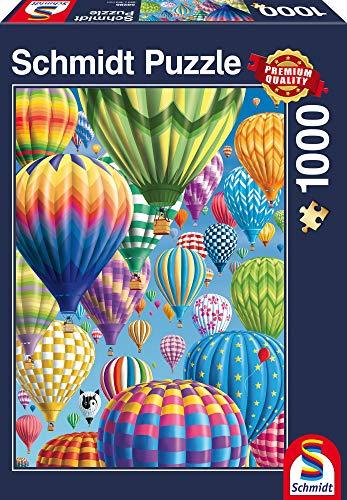 Schmidt Spiele Puzzle 58286 Bonte Ballonen in de lucht, 1000 stukjes Puzzel 58286-Bunte Himmel, Teile Puzzle, bunt