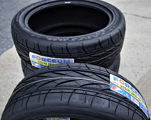 Set of 2 (TWO) Forceum Hexa-R High Performance All Season Tires - 225/45ZR18 95Y XL
