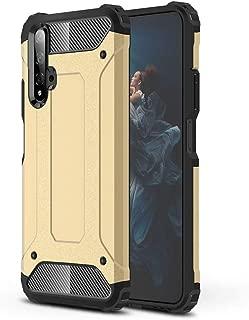 Shron Huawei Nova 5T ケース TPU素材 PC材質で作られており,全面保護 指紋防止レンズ保護,Huawei Nova 5T ケース 薄型 おしゃれ かっこいい(ゴールド)