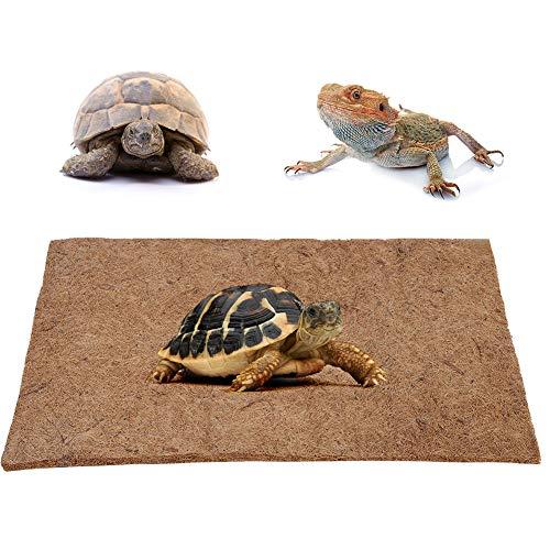 Alfombra de reptil de 80x40 cm, estera de fibra de coco de reptil natural Felpudo Terrario transpirable Ropa de cama Sustrato Paisajismo para mascota Tortuga Lagarto Serpiente Iguana Tortuga Camaleón