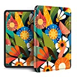 YOPM Funda para Kindle E-Reader,Compatible con 2018 Kindle Paperwhite 4 Kindle Oasis 2/3 Kindle 2019 Auto Sleep/Wake Funda Inteligente De Silicona Abstract Sun Flower, para Cw24Wi, S8In4O