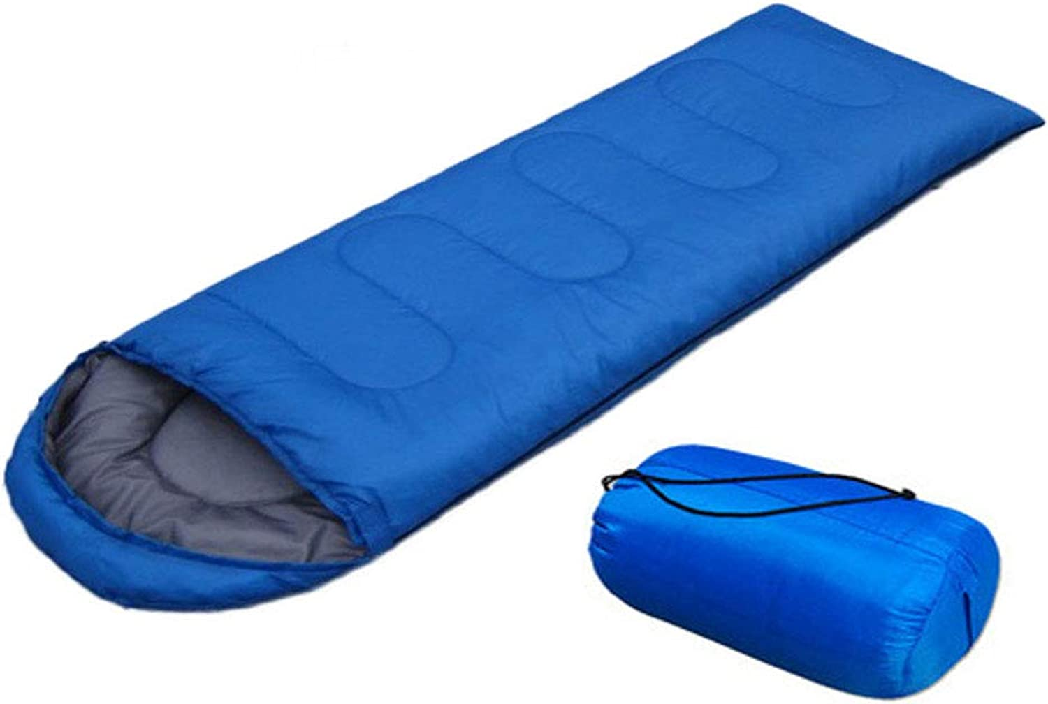 Camping sleeping bag,Envelope Hooded sleeping bag,Three Seasons(Spring, Summer, Fall),Five Specifications, blueee,Affordable and Durable