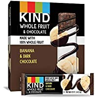 12-Count KIND Chocolate Banana, No Sugar Added, Gluten Free Fruit Bars