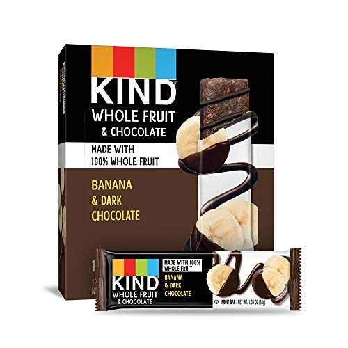 KIND Whole Fruit Bars, Chocolate Banana, 12 Count