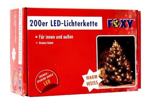 Idena Guirlande lumineuse à 200 LED Extérieur Lumière chaîne de Foxy, 17,95 M de long en plastique blanc/vert 8582139