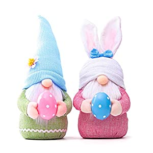 🎁【PERFECT EASTER GIFT】 Mr. and Mrs. Gnome are perfect for spreading the Easter spirit. In folklore, Gnome guards home and protect people from misfortune. Perfect for Easter gifts for family and friends or people who collect gnomes, they'll love these...