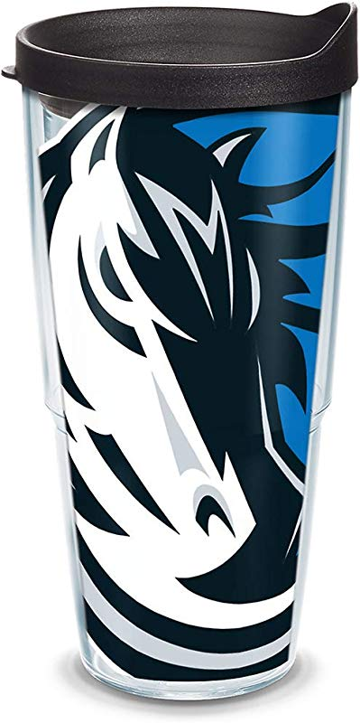 Tervis 1084546 NBA Dallas Mavericks Colossal Tumbler With Wrap And Black Lid 24oz Clear