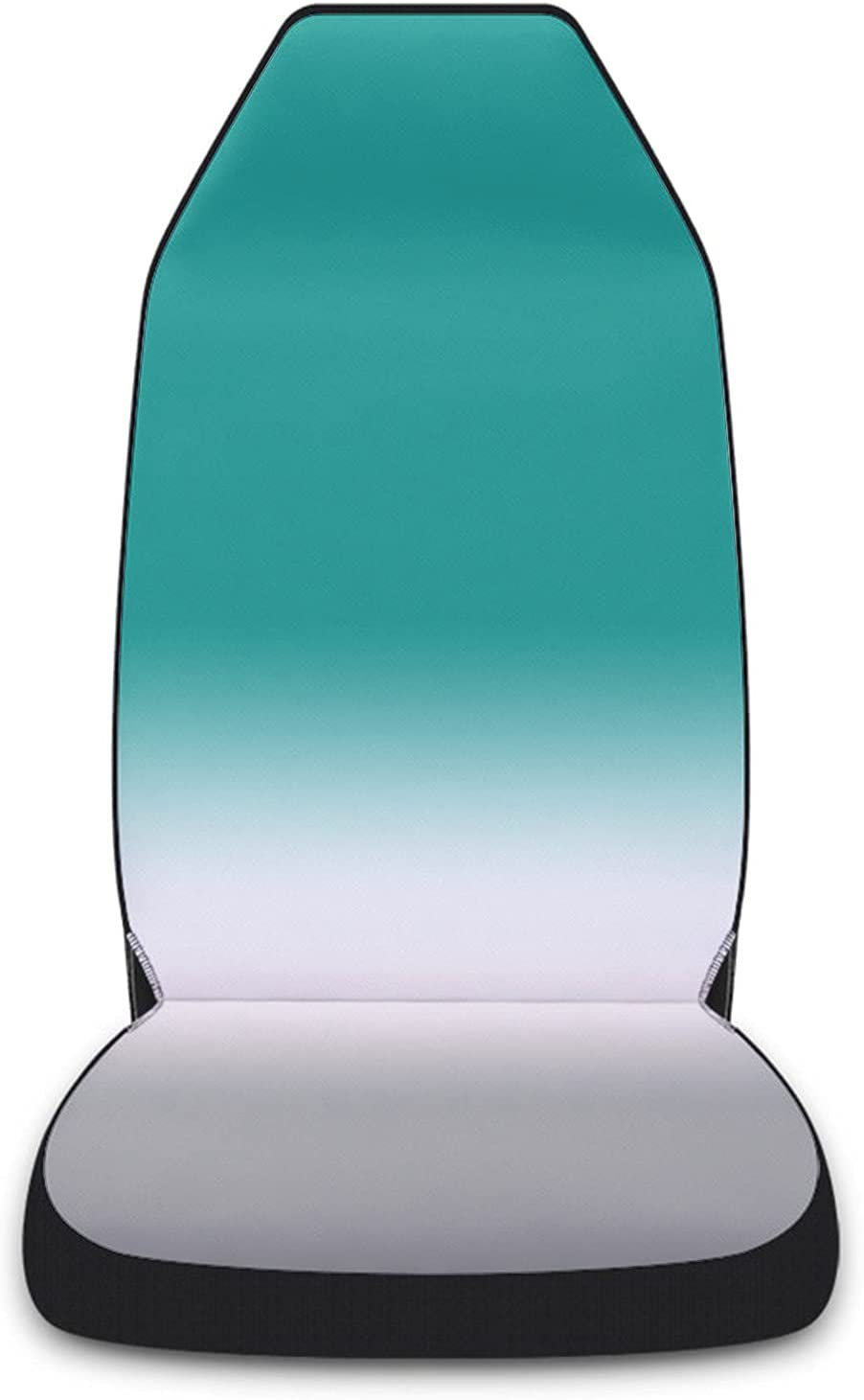 Car Seat Covers Ombre Turquoise Grey White Front Cover Prot 2021new shipping free shipping Challenge the lowest price