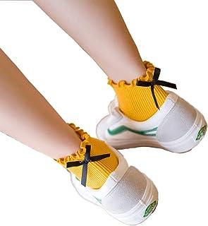 靴下 レディース ソックス おしゃれ 薄手 シンプル 春物 花柄レース おしゃれ 綿 8足セット