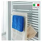 Metaltex - Toallero Doble para toallero eléctrico de Pared (Revestimiento...