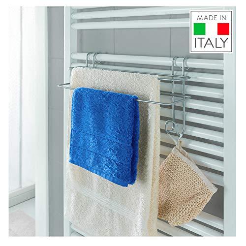 Metaltex - Toallero Doble para toallero eléctrico de Pared