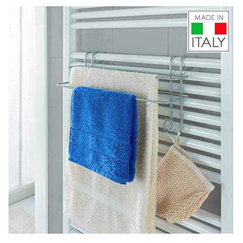 Metaltex - Toallero Doble para toallero eléctrico de Pared (Revestimiento Polytherm)
