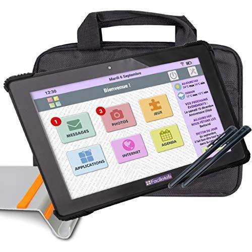 FACILOTAB Pack L Onyx 10,1' 32 Go Noir WiFi 4G - Tablette...