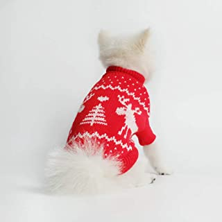 Innopet Christmas Dog Clothes,Sweater Coat for Small Dogs and Cats,Pet Warm Winter Apparel,Puppy Cute Dog Outfits Costume
