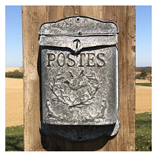Brievenbus brievenbus brievenbus zink, wandmontage, 40 cm x 25,50 cm