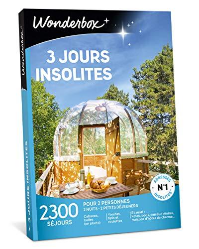Wonderbox - Coffret cadeau - 3 JOURS INSOLITES - 2300...