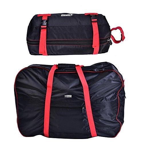 Dilwe stuurtassen, draagbaar, handig opvouwbare fietstas voor 14-20 inch fietsen met schouderriem