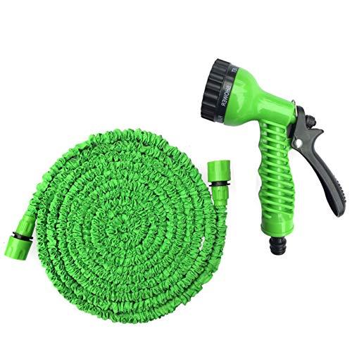 Festnight Gartenschlauch Wasserschlauch Flexibel Gartenschlauch 3/4 und 1/2 Zoll Garten Rasenschlauch mit Anschluss für die Autowäsche Gartenbewässerung Grün 2,5 m-7,5 m