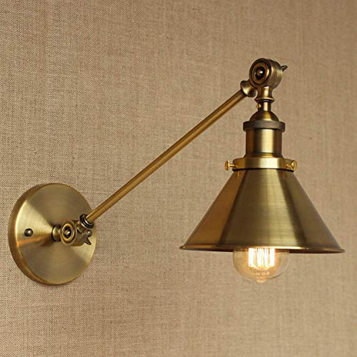 Industriële loft-stijl vintage LED lampenkap Gold Edison wandlamp