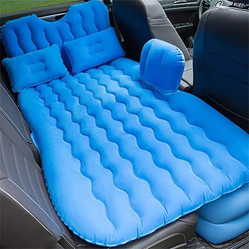 HFDDF Cama de Viaje de automóvil, colchón portátil Inflable Cama de Coche multifunción multifunción con Engranaje de Cabeza Cama de Aire Viajes de Viaje Cama Inflable,Azul