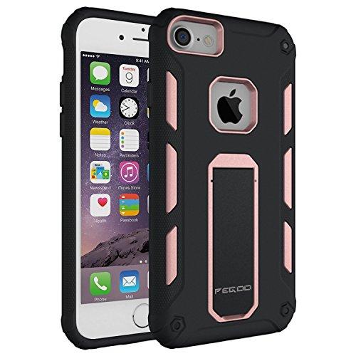Custodia iPhone 6,Pegoo Cover iPhone 6 Ultra Slim armatura antiurto Copertura Cassa Custodia Silicone cover Case supporto stabile Protettiva Shell per apple iphone 7 6 6S (Oro Rosa)