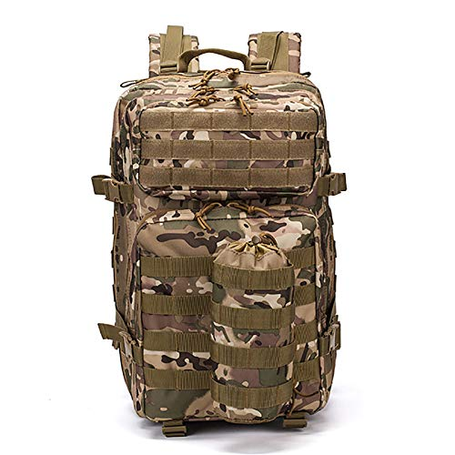 Military Tactical Backpack 70 Liters Large Backpack 3 Days Outdoor Assault Rainproof Backpack Multi-Functional Unisex Military Backpack E