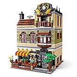 Haus Bausteine Bausatz, restaurante modular, modelo Architektur, 1320 Klemmbausteine und 3 minifiguren, Kompatibel mit Lego Stadthaus, Restaurante Chinesisches