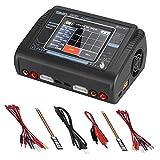 ARCELI リポバッテリー 充電器, Lipoバッテリー充電器タッチスクリーンデュアルバランス放電器Duo AC150W DC240W 10A T240 1-6S RC Li-ion Life NiCd NiMH LiHV PB スマートバッテリー