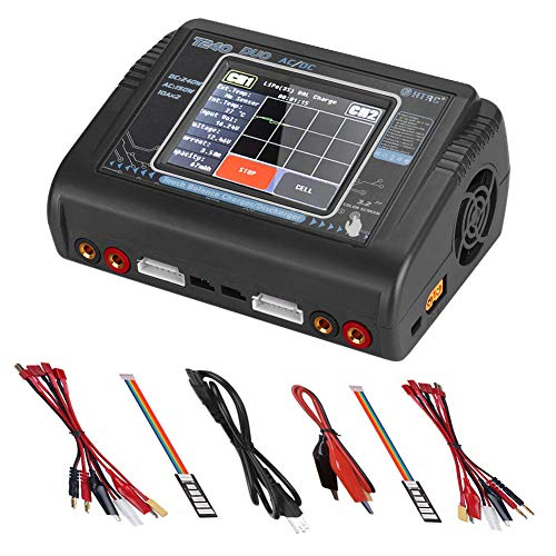 LiPo Battery Charger, ICQUANZX RC Battery Charger 1-6S Touch Screen Dual Discharger AC150W DC240W 10A T240 Fast Balance Battery Charger for RC Li-ion Life NiCd NiMH LiHV PB Smart Battery