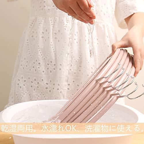 Cozyoneハンガージャケットハンガースリムタイプ人体ハンガー10本組洗濯収納ハンガー衣類が滑り落ちない型崩れ防止スリムハンガー