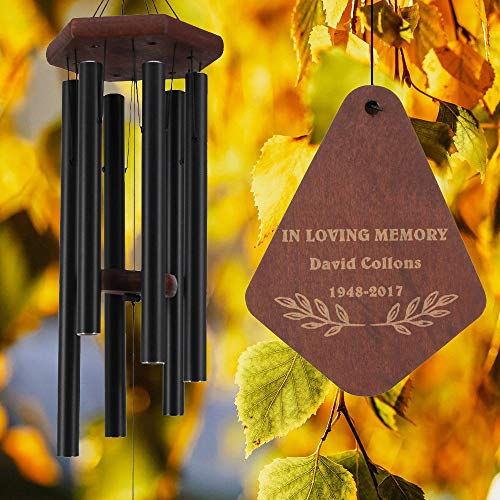 ASTARIN Personalized Memorial Wind Chimes Outdoor, Customize Wind Chimes for Bereavement Gift, in Memory Personalized Wind Chime, Remembrance Wind Chime