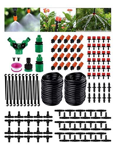 STLOVe Kit de Riego por Goteo 149 PCS Sistema de Riego de Jardín Enfriamiento Atomización Riego...