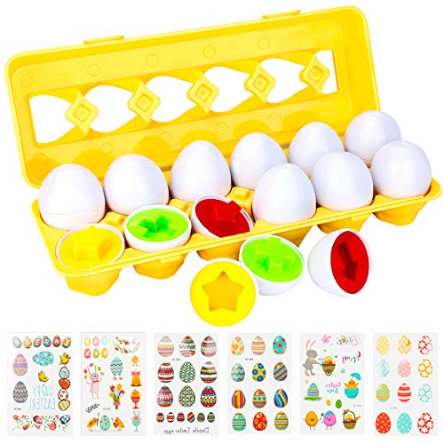 Allnice Matching Eggs And Easter Sticker Set