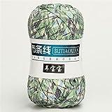 1 unid 100 g de punto de tejido tejido de punto de tejido Cesta gruesa Manta Alfombras Hilo acogedor algodón lana tejer tapas tapas Bricolaje Hilado de tela de fantasía de ganchillo ( Color : 56 )