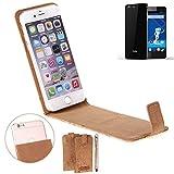 K-S-Trade® Für Haier Phone L53 Korkhülle Flipstyle Case Schutzhülle Kork Case Hülle Flip Cover Smartphone Tasche Für Haier Phone L53