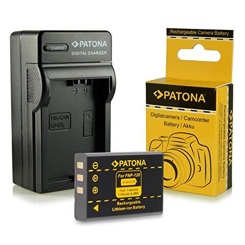 PATONA 3in1 Ladegerät + Akku NP-120 kompatibel mit Fujifilm FinePix F10 F11 M603