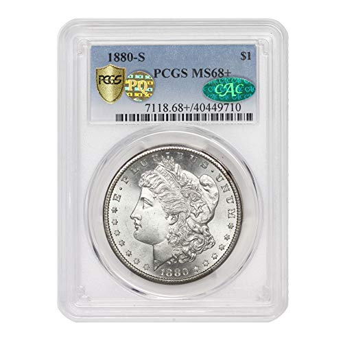 1880 S American Silver Morgan Dollar MS-68+ PQ Approved by CoinFolio...