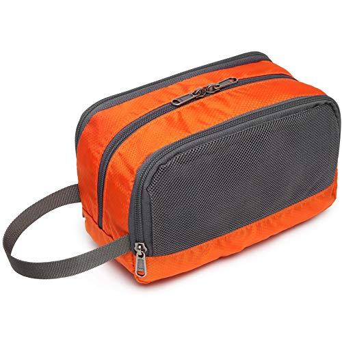 Travel Toiletry Bag, Cambond Dopp Kit Shaving Bag Nylon Toiletry Bag for Men Women Travel Bathroom Bag with Hanging Strap, Orange