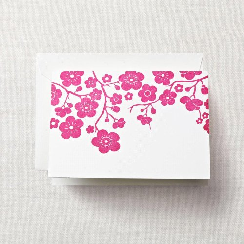 Crane & Co. Letterpress Plum Blossom Note (CF1329), Pack of 10