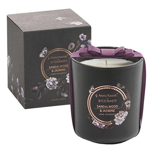 RITZENHOFF Aroma Naturals Noir geurkaars, Sandalwood & Jasmijn, in geschenkverpakking