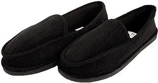 Bright Men's Corduroy Black House Slippers