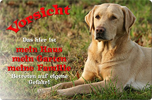 +++ LABRADOR Retriever - Metall WARNSCHILD Schild Hundeschild Sign - LAB 04 T1 BLO